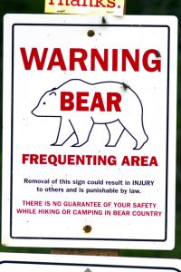 A Bear Warning Sign: Bear Phobia
