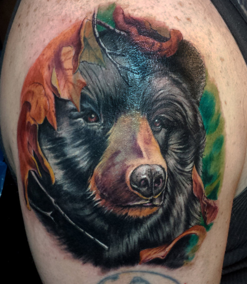 3D Bear Tattoo