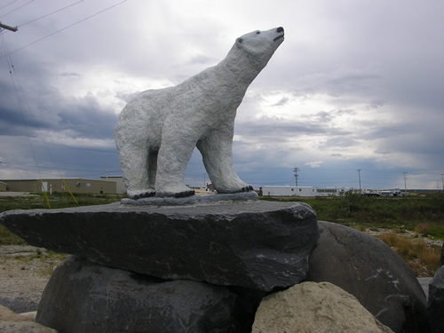 Polar Bear Statue in Churchill: Polar Bear Capital Of The World